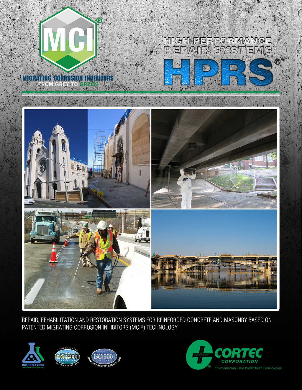 High Performance Repair Systems brochure showing mci products