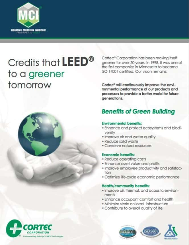 LEED brochure showing mci products