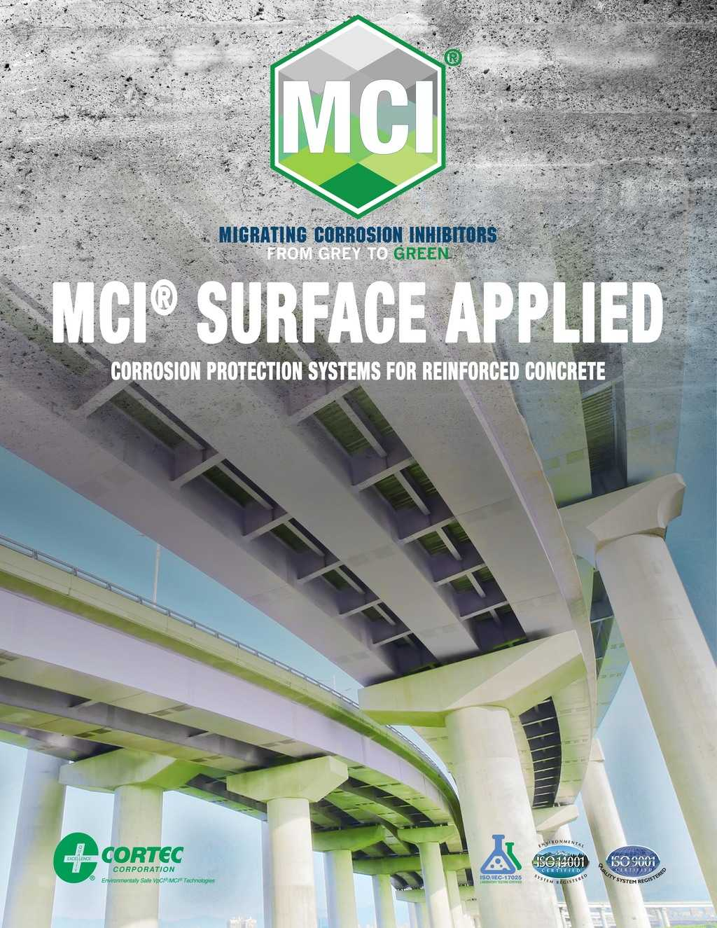 surface treatment brochure showing mci products